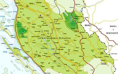 lika mapa Visit Lika   Planiranje putovanja lika mapa